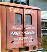 Old carpet cleaning truck